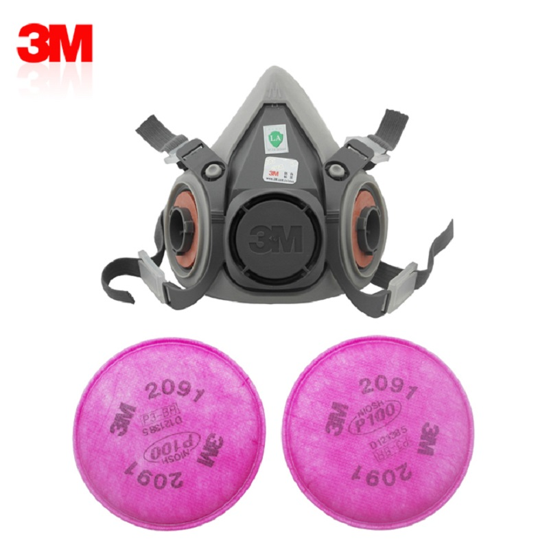 3in1 3M 6200 Dust Mask Anti-particle Filter 2091 P100 Industrial Spray Paint Weld Dustproof Coolflow Valve Protective Respirator3in1 3M 6200 Dust Mask Anti-particle Filter 2091 P100 Industrial Spray Paint Weld Dustproof Coolflow Valve Protective Respirator