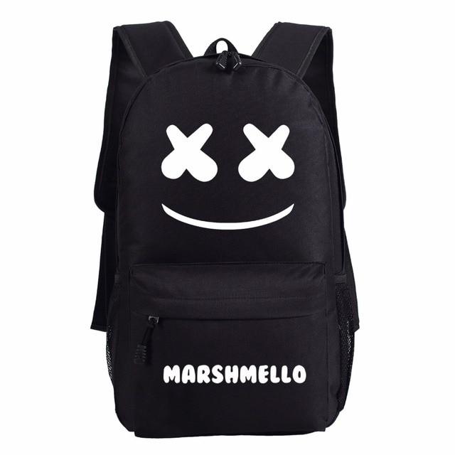 c01765d82 2018 nova Marshmello mulheres Mochila homens schoolbag bolsa de ombro bolsa  de viagem Laptop Bags Mochila