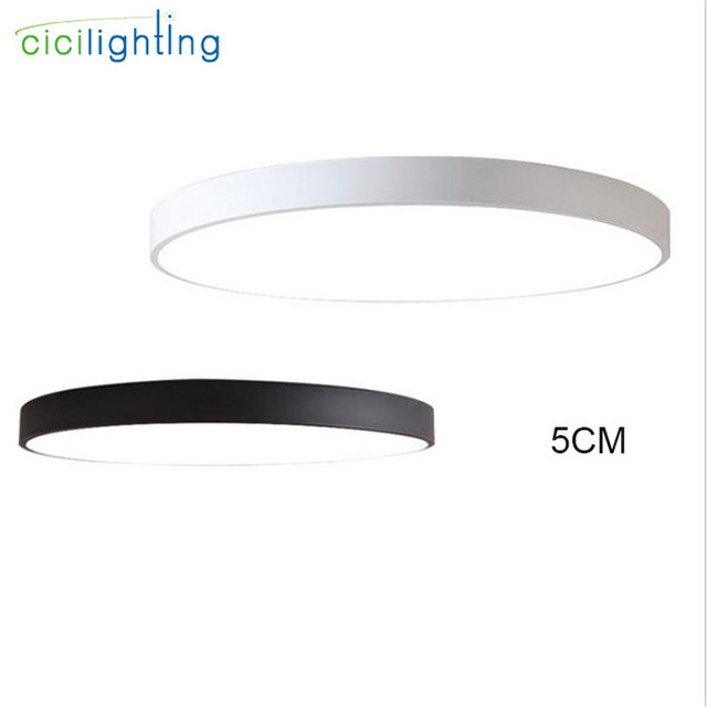 Modern Super Thin Led Ceiling Lights Acrylic Ring Lamp Surface Mount Bedroom Living Room Kitchen Lighting