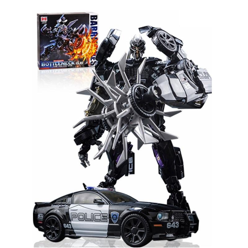 Transformation MPM05 Police Barricade MP Alloy Metal Collection Black Mamba LS02 Masterpiece KO Figure Robot Toys 5.0