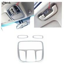 Для Kia Optima K5 2016 2017 автомобилей для помещений спереди + сзади лампа для чтения освещение рамка украшения Крышка Trim 3 шт ABS Chrome