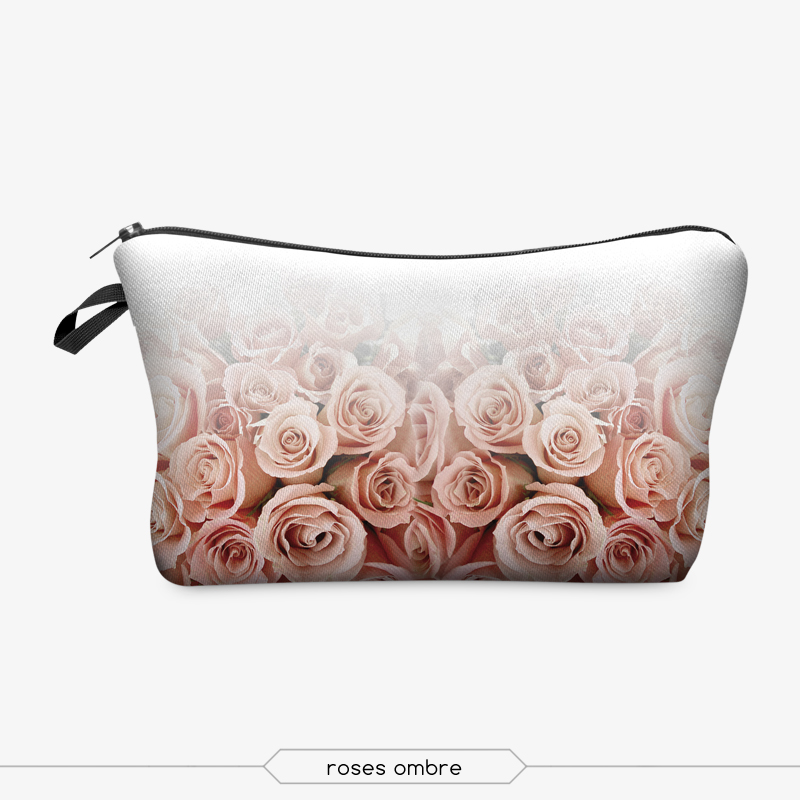 Jom Tokoy 3D Printing Makeup Bags With Multicolor Pattern Cute Cosmetics Pouchs For Travel Ladies Pouch Women Cosmetic Bag 11