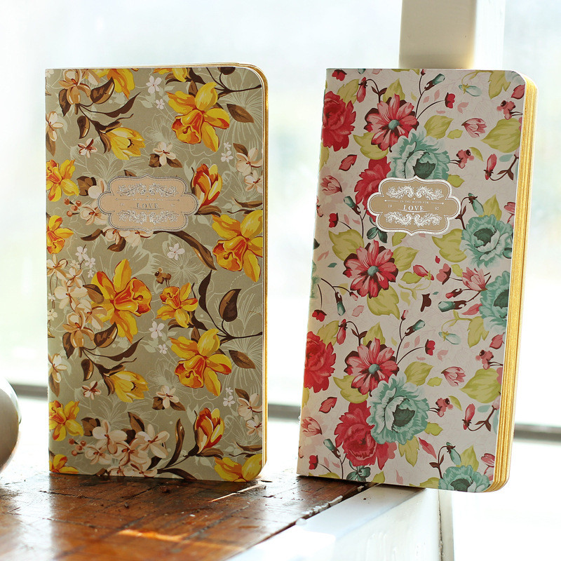 Vintage Flower Cute Planner Notebook School Stationery Store Mini Pocket Agenda Diary Note Book Travel Journal Office Accessory