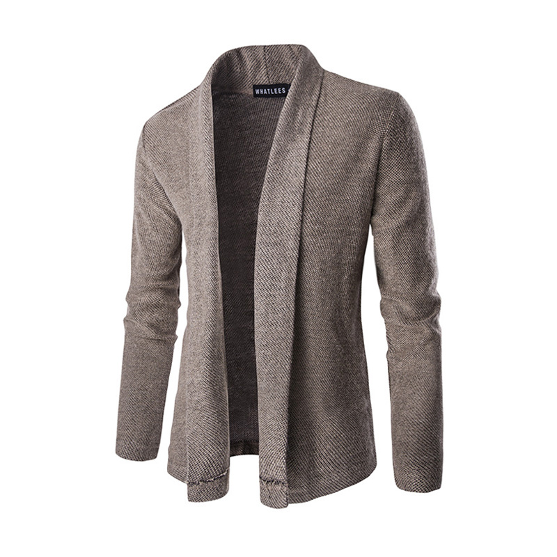 2017 New style fashion brand men s casual long sleeved Sweater solid personality turn down collar