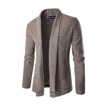 Новинка 2017 года стиль модная брендовая мужская повседневная с длинными рукавами свитер личности отложной воротник кардиган Длинный свитер M-XXL
