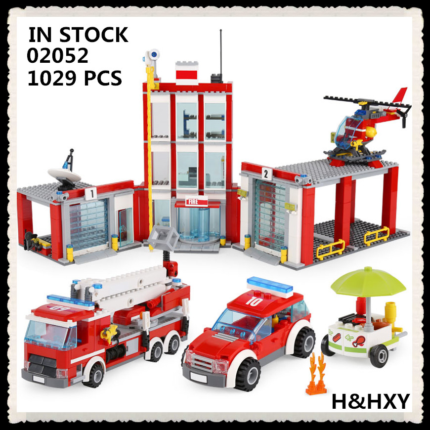 IN STOCK H&HXY 02052 Genuine City Series 1029Pcs The Fire Station Set 60110 LEPIN Building Blocks Bricks Educational Toys lepin 02052 genuine 1029pcs city series the fire station set 60110 building blocks bricks educational toys christmas gift model