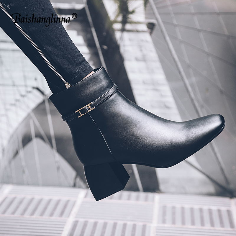 2018 women Shoes Martin Boots Genuine Leather Ankle Shoes Vintage Casual Shoes Brand Design Fashion Handmade Women Party Boots