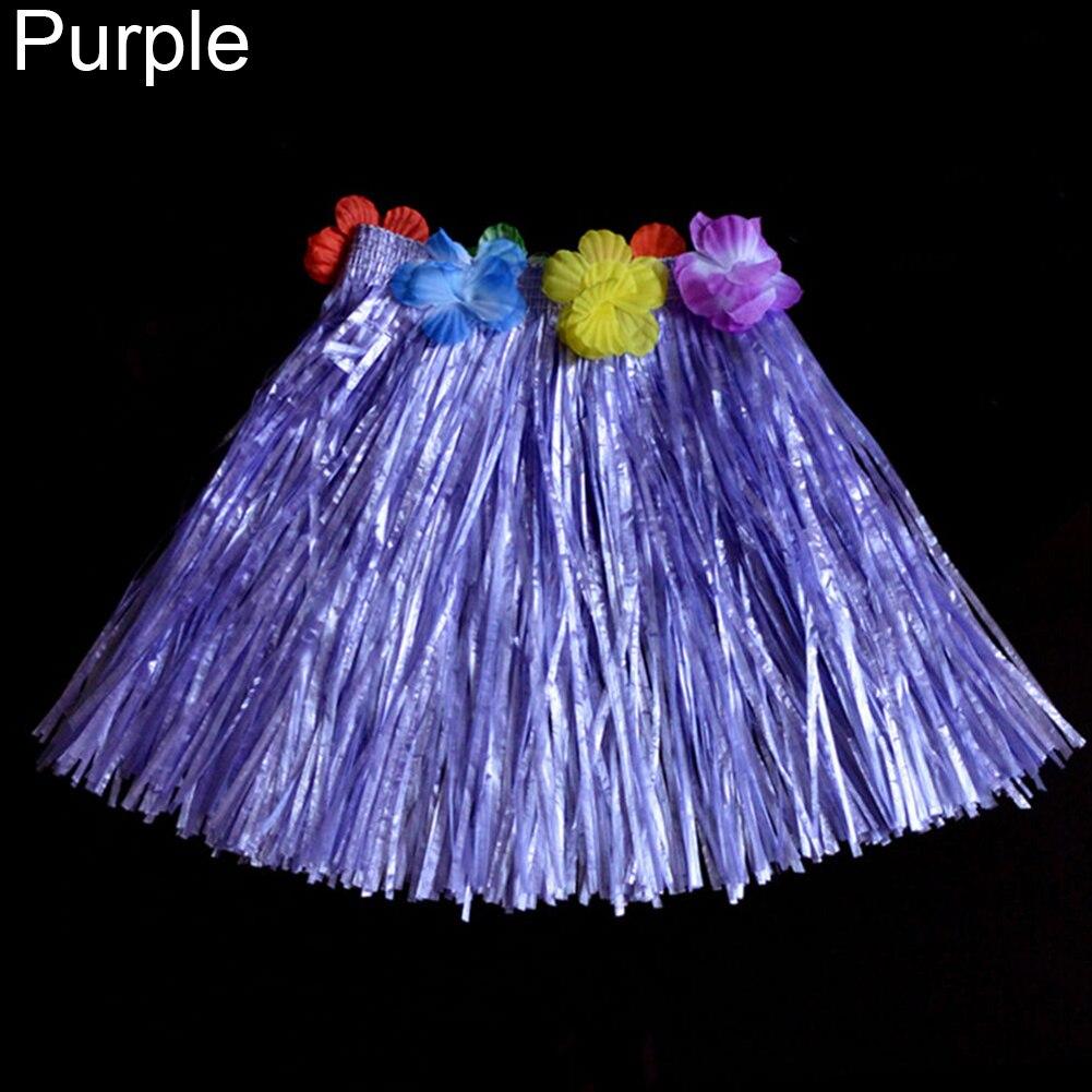 Kids Boys Girls Hawaiian Hula Grass Beach Elastic Skirt Flower Party Hot Dress U