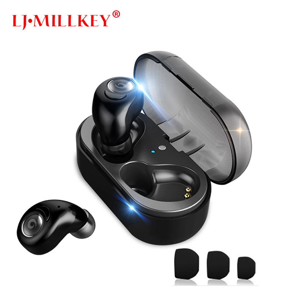 True Wireless Earbuds with Charging Box Mini Control Wireless Headset In-ear TWS Bluetooth Earphone for phone YZ126