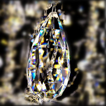 30pcs/lot 76mm Free Fast Shipping Gorgeous Crystal Glass Clear Chandelier Prism Wedding decoration, Chandelier Pendants