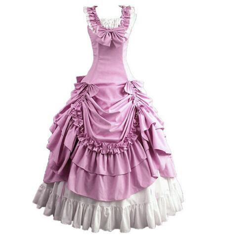 Femmes adulte sud victorien robe robe de bal gothique Lolita robe grande taille personnalisée - 2