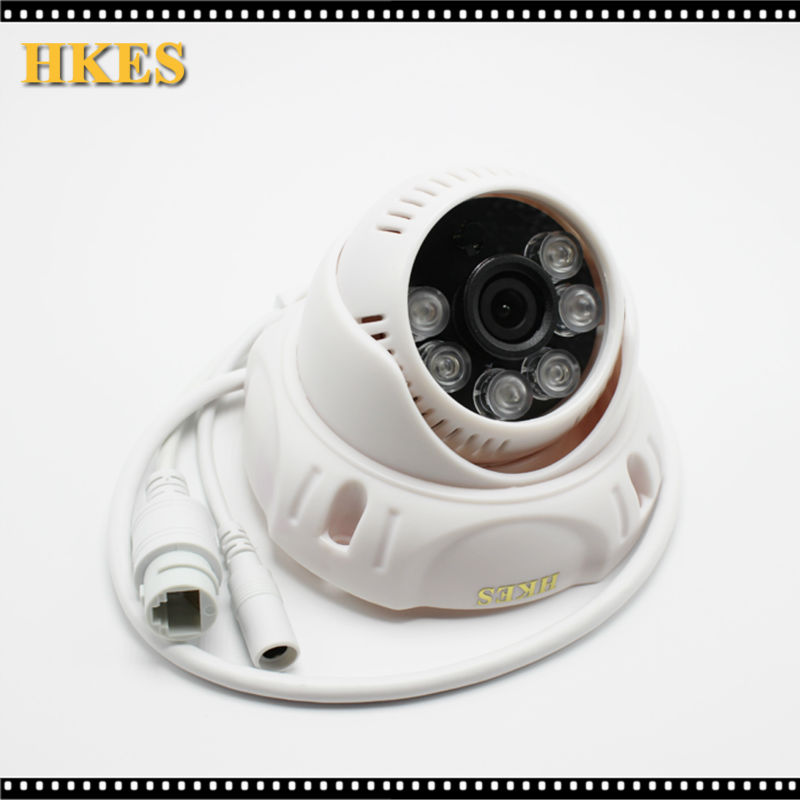 HKES HD 1280*720P Mini IP Camera with IR-CUT Filter Indoor 6pcs IR Home Video Surveillance Security CCTV Camera 720p hd hi3518c ov9712 indoor mini security video ip camera with free cms software for home baby security