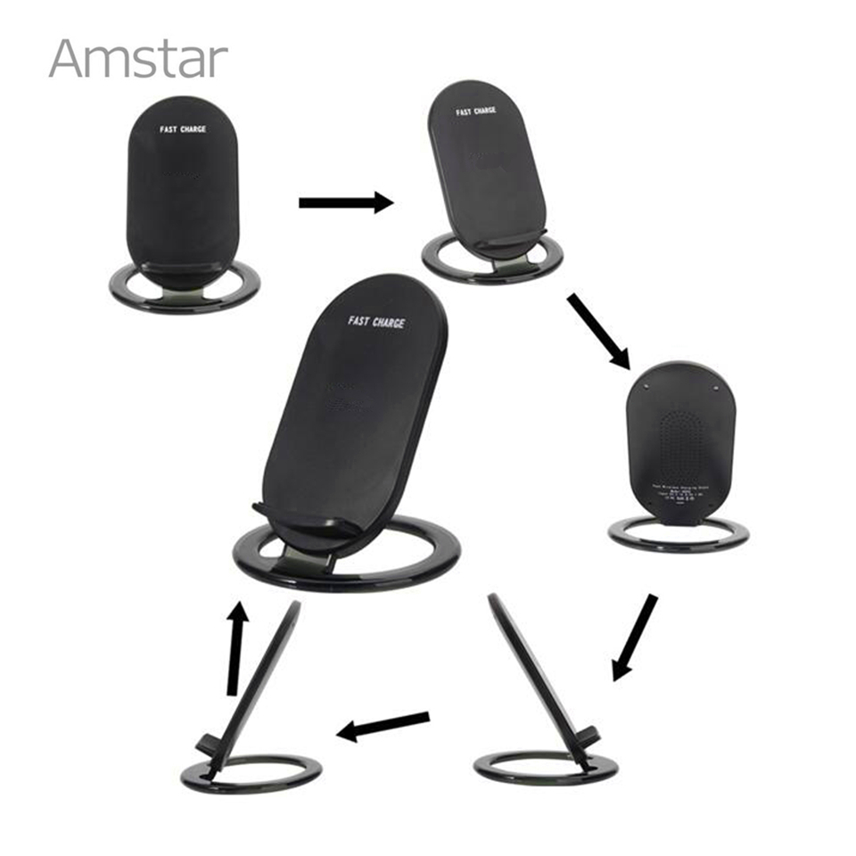 Amstar Qi Wireless Charger 10 W / 7.5 W Dual Coils Charger Cepat - Aksesori dan suku cadang ponsel - Foto 3