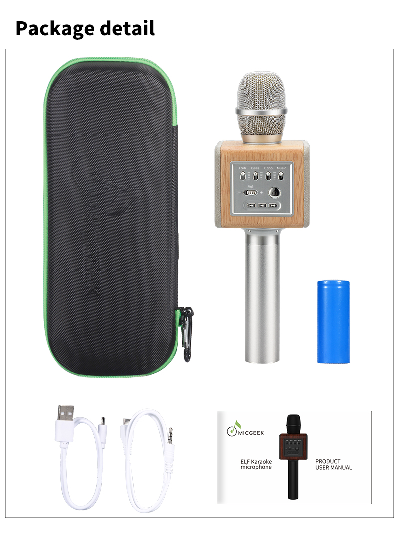 Original brand MicGeek ELF 3D Wireless Karaoke Microphone