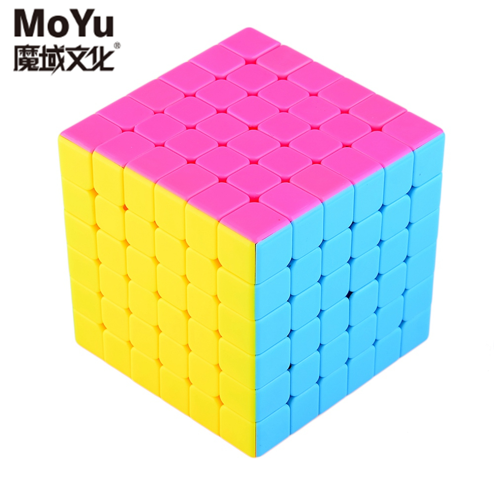 Original MoYu Aoshi 69mm 6x6x6 Stickerless Speed Magic Cube Puzzle Cubes Kids Educational Toys - Pink moyu aoshi 69mm 6x6x6 stickerless speed magic cube puzzle cubes kids educational toys pink