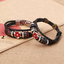 The Sharingan Leather Bangle Naruto Bracelet