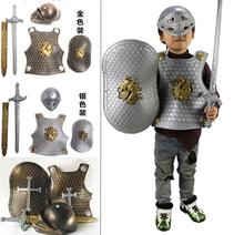 Halloween Pirate dress up Pirate knife weapon warrior armor armor suit shield small soldier props play house toys(China)