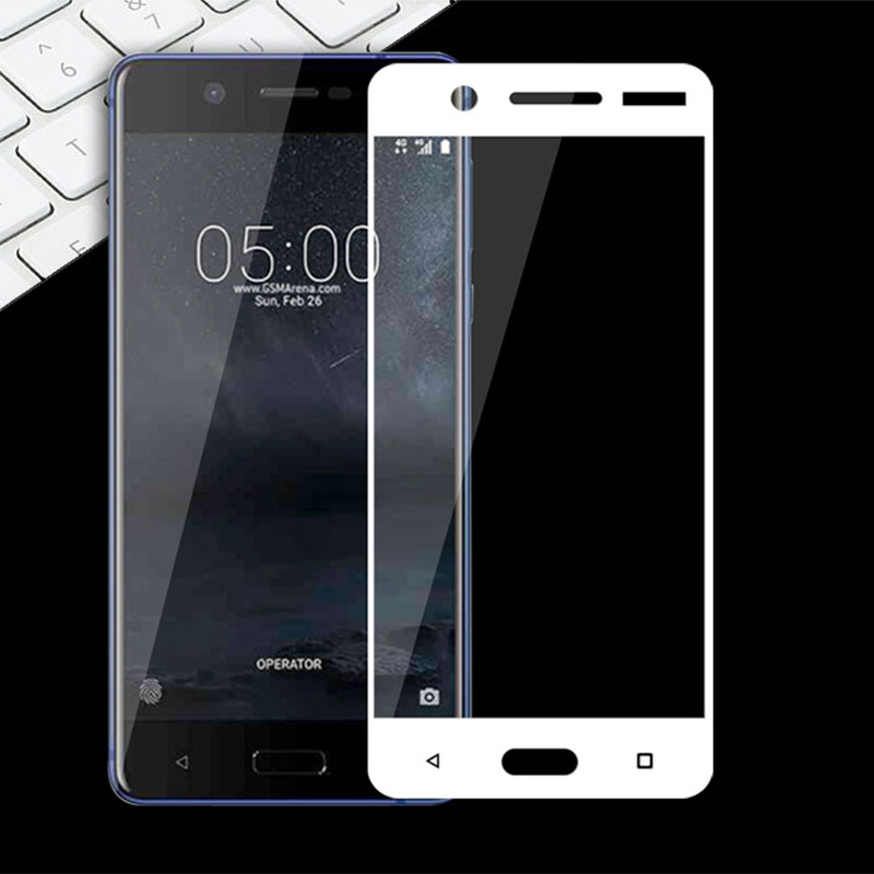 Screen Protector For <font><b>Nokia</b></font> 5 2017 Tempered Glass Full Cover Protective Glass For Nokia5 TA-<font><b>1053</b></font> Tempered Film For <font><b>Nokia</b></font> Lumia 5 image