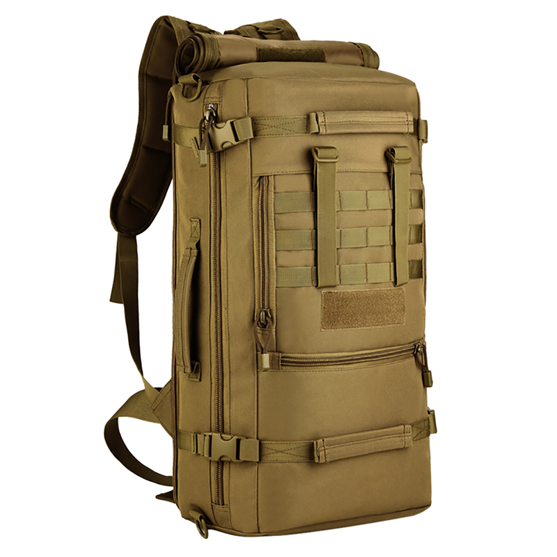 50L Tactical Military MOLLE Assault Backpack Pack 3 Way Modular Attachments Large Waterproof Bag Rucksack Outdoor Camping Gear lqarmy 3 day expandable backpack with waist pack large rucksack tactical backpack molle assault bag for day hiking tan