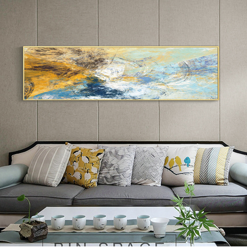 Modern Abstract Oil Pianting On Canvas Posters And Prints Wall Art Painting Abstract Line Picture For Living Room Decor No Frame
