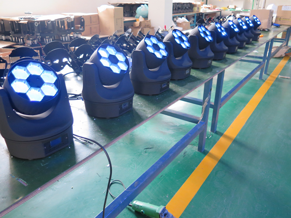 TP-L671 Mini Bee-Eye Led Moving Head Beam Light 6*15W RGBW DMX 512 High Brightness 4in1 Color Led Party Light Unlimited Rotation