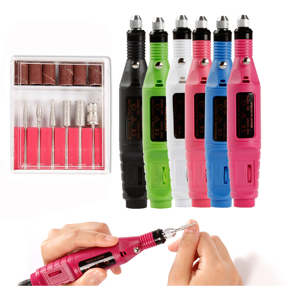 Electric Nail Tips Manicure Machine Nail Drill Bits Nail Art Milling Cutters Nail File Pen Pedicure Tools Apparatus for Manicure victool carbide drill nail bits universal grit for electric nail files machine electric manicure pedicure bit nail art tools 17
