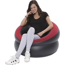 4208 Inflatable leather sofa cushion stool single flocking adult children leisure cr FREE SHIPPING(China)