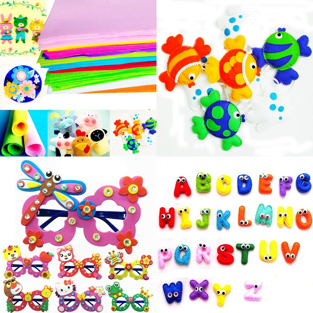 ALI shop ...  ... 32770502360 ... 2 ... High Quality Mix Colors Handmade Non Woven Felt Fabric 1mm Thickness Polyester Cloth Felts DIY Bundle For Sewing Dolls Crafts ...
