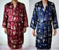Frete Grátis!!! Estilo chinês dos homens Kimono Robe/Vestido Caráter Sleepwear Um Tamanho