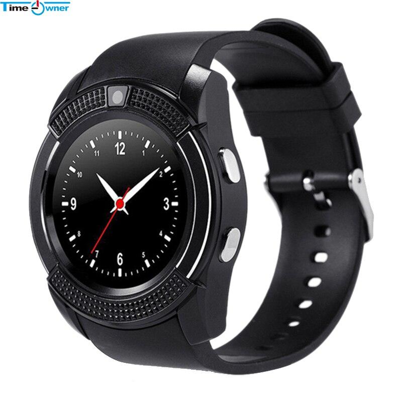 imágenes para Propietario de tiempo V8 Reloj Inteligente Android Reloj Teléfono Reloj Soporte SIM TF Tarjeta Bluetooth de la Notificación de Alarma Recordatorio para Samsung Xiaomi