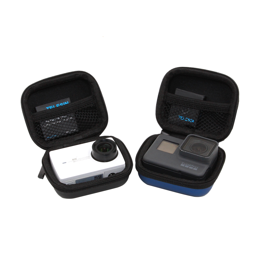 Telesin Mini Action Camera Bag Case For Gopro Hero 5 7 6 4 3 2 Xiaomi Yi 4k Sjcam Eken Soocoo Accessories In Video Bags From