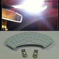 Error Free 3 Light LED Map Dome Interior Kit For Mercedes C Class W203 2001 2007