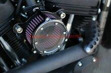 Двигатель мотоцикла ЧПУ Алюминиевый Воздушный Фильтр Впускной Воздушный Фильтр Универсальный Для Harley Davidson Sportster XL 883 1200 2004-UP Скутер