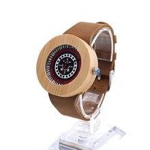 BOBO Estilo BIRD Mujeres de Los Hombres Reloj de Pulsera Redonda de Madera Caja De Madera Boheme Dail Reloj de Señoras Regalo Caja horloges vrouwen