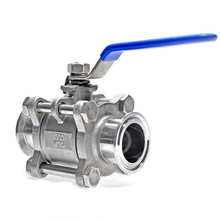 Clamp Ball Valve Stainless Steel  1/2 3/4 1 ss304 3pcs Full Port