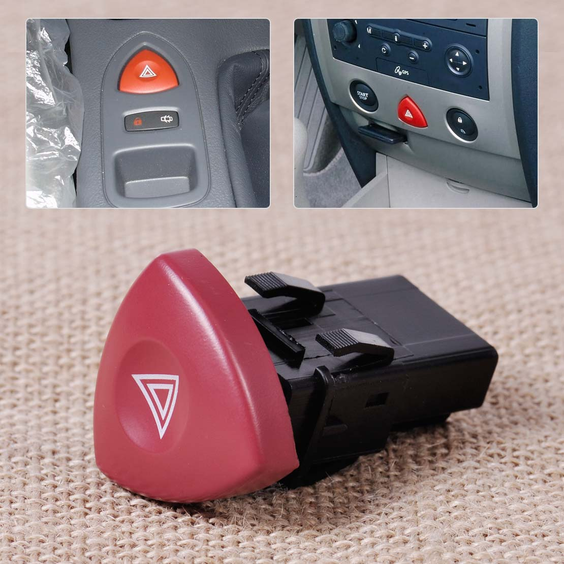 CITALL Hazard Warning Light Switch Dash Button 8200442724 93856337 for Renault Espace Laguna Nissan Primastar Vauxhall Vivaro
