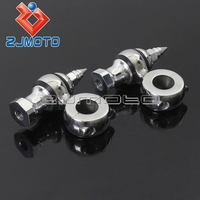 2x Silver Aluminum Motorcycle Handlebar Risers 1 Mounts For Harley Handle Bar Clamp Extend Adapter