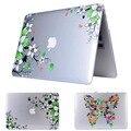 2016 Портативный Жесткий Crystal Case Живописи Цветок Чехол для Воздуха Pro Retina11 12 13 15 Прозрачный Ноутбук для macbook случае 13.3