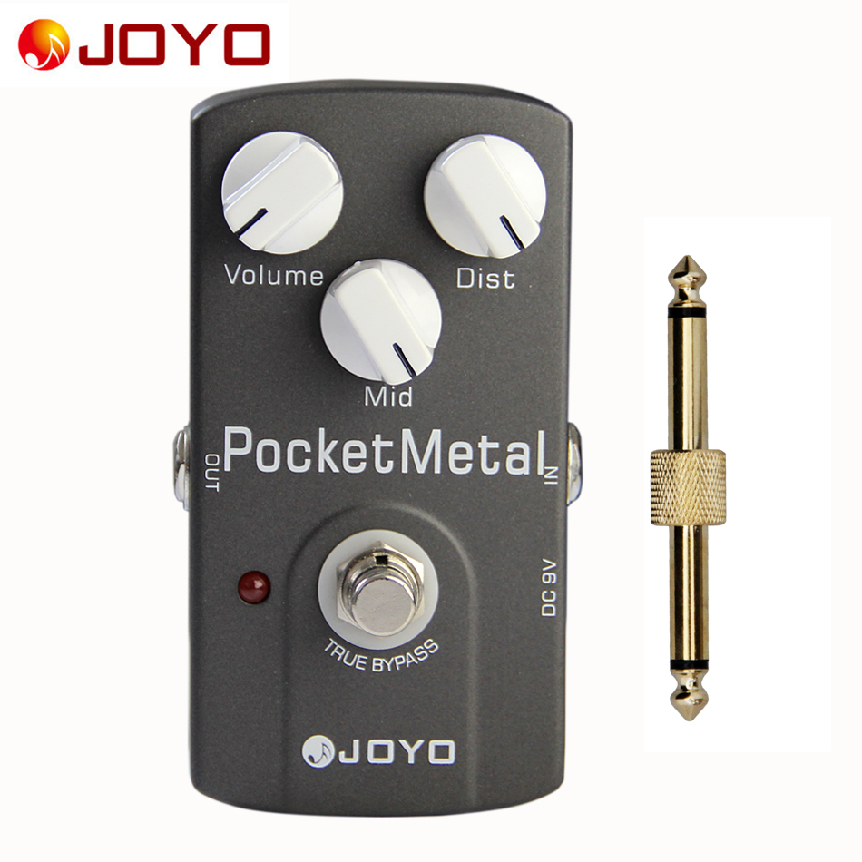 JOYO JF-35 Guitar Effect Pedal POCKET METAL Distortion Drive Mid Tone Adjustment Knob True Bypass+1 pc pedal connector mooer ensemble queen bass chorus effect pedal mini guitar effects true bypass with free connector and footswitch topper