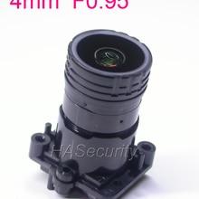 """StarLights F0.95 4 мм фокусный объектив 2MP 1/2. """" специально для датчика изображения IMX327, IMX307, IMX290, IMX291 Модуль платы блока программного управления камеры"""