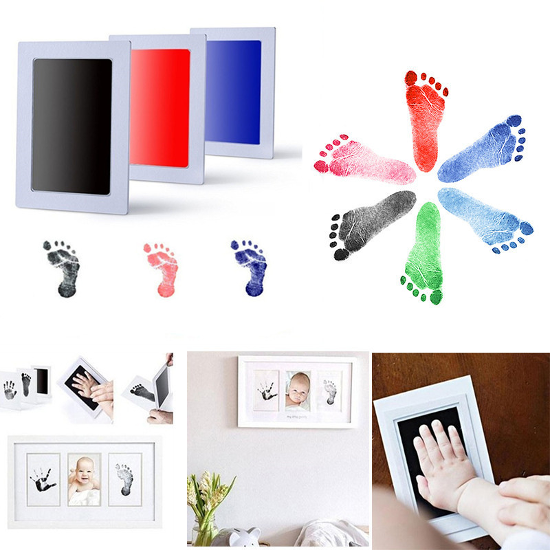 Baby Handprint Footprint Non-Toxic Newborn Imprint Hand Inkpad Watermark Infant Souvenirs Casting Clay Toys Gift Baby Souvenirs