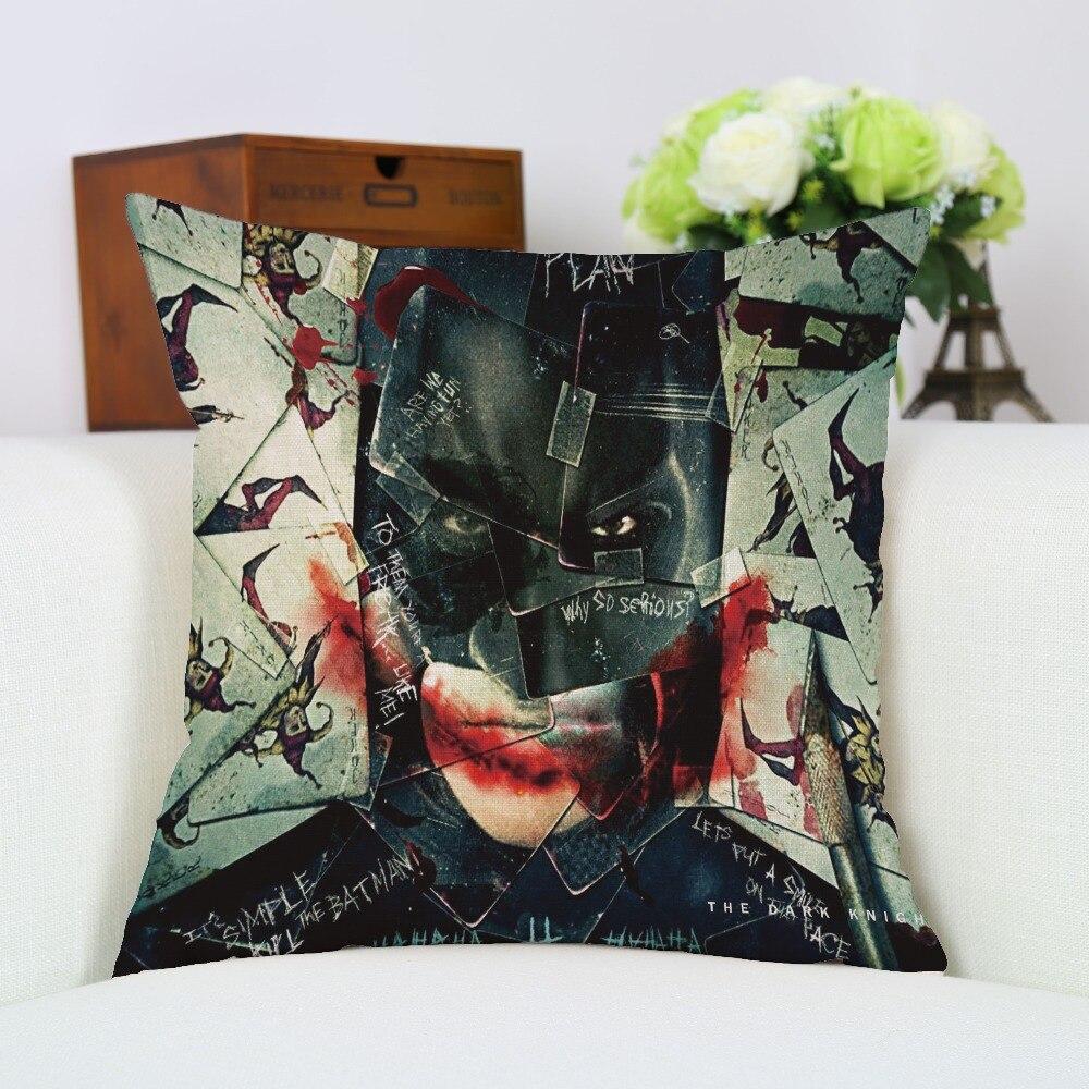 Chiledrens Favourite Awesome Linen Batman Superman Pillow Case Seat Sofa Chair Cushion Cover New