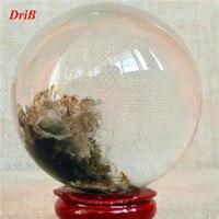 Natural quartz crystal ball