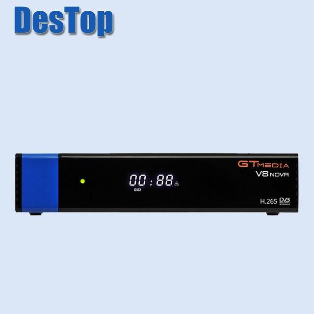 5 Gtmedia V8 Nova Blauw Satellietontvanger Dvb S2 Ondersteuning Ingebouwde Wifi Ethernet Power Vu Biss Set Top doos