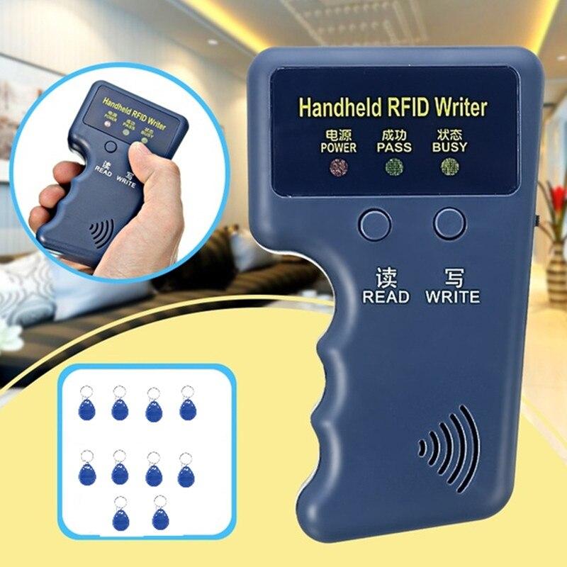 Schlüssel Duplikator 125 khz RFID IC ID Karte Kopierer Writer Duplizierer Programmer Reader Spiel Beschreibbare EM4305 ID Keyfobs Tags Handheld