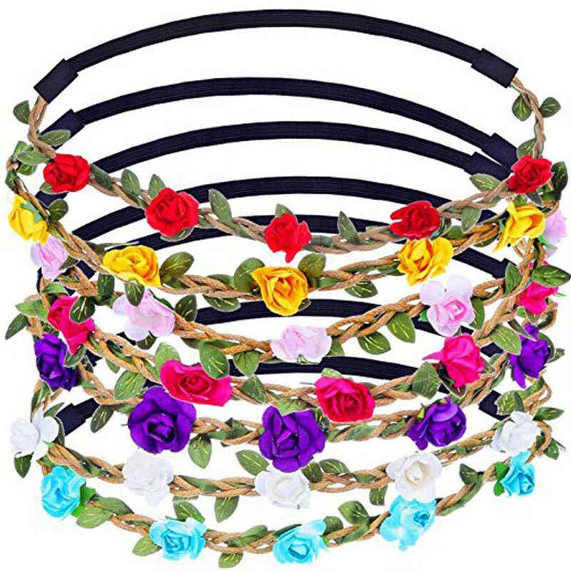 HOT Sale Boho Floral Flower Beach Womens Girls Hairband Headband Festival Party Wedding