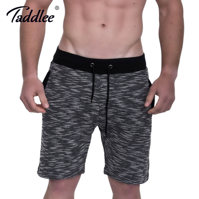 Taddlee Brand Men Sports Running Gym Shorts Cotton Soft Stretch Boxer Trunks Fitness Gasp Bodybuilding Training Short Bottoms