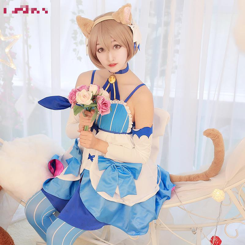 где купить Re:zero Re Life In a Different World From Zero Felix Argyle Cosplay Kara Hajimeru Isekai Seikatsu Cat Dress Costume дешево