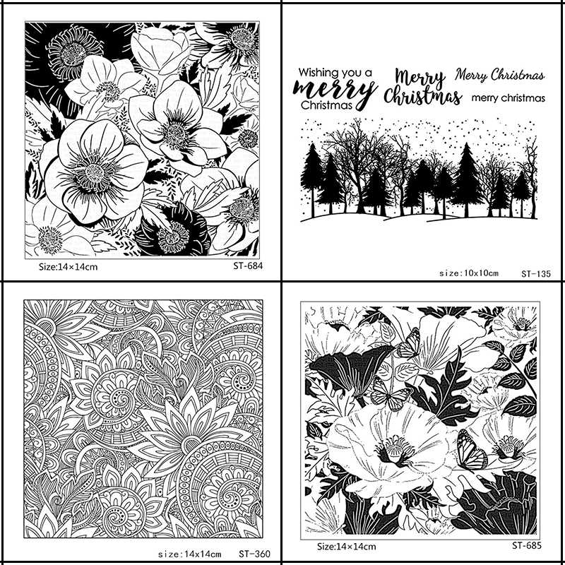 ZhuoAng Beautiful Flower/Petal Fallen leaves Clear Stamps For DIY Scrapbooking/Card Making/Album Decorative Silicone Stamp Craft