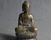 4 china buddhism fane bronze lotus sakyamuni Shakyamuni Tathagata buddha statue